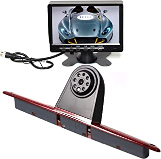 RED WOLF 3rd Brake Light Reversing Parking Backup Camera Kit with 7'' TFT LCD Monitor For 2007-2016 Mercedes Benz Sprinter/VW Crafter Vans