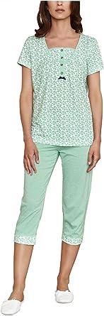 Pijama Mujer Verano pantalón Pirata: Amazon.es: Ropa