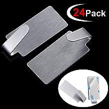 Gancho autoadhesivo de acero inoxidable pequeño de 1.4 x 0.6 pulgadas, no requiere pegamento para taladro, para cocina, armarios, sala de estar