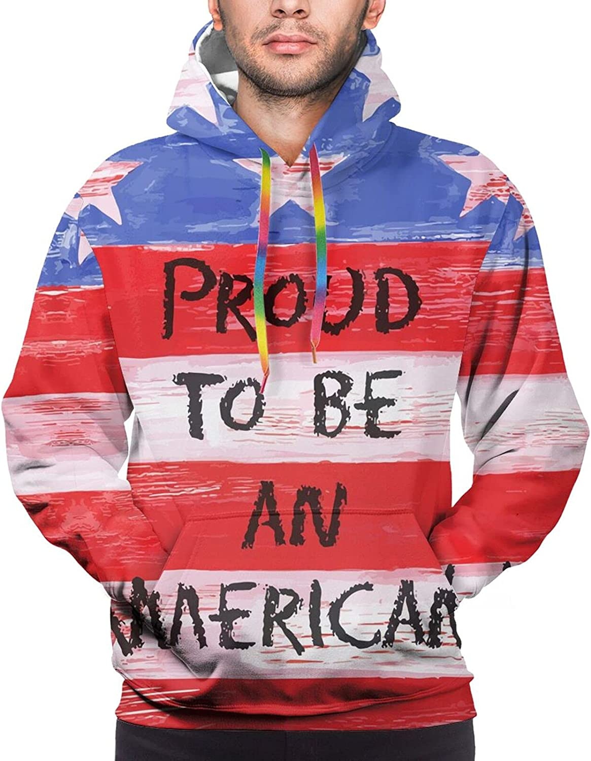 Hoodie For Men Women Unisex Proud To Be An American Hoodies Outdoor Sports Sweater