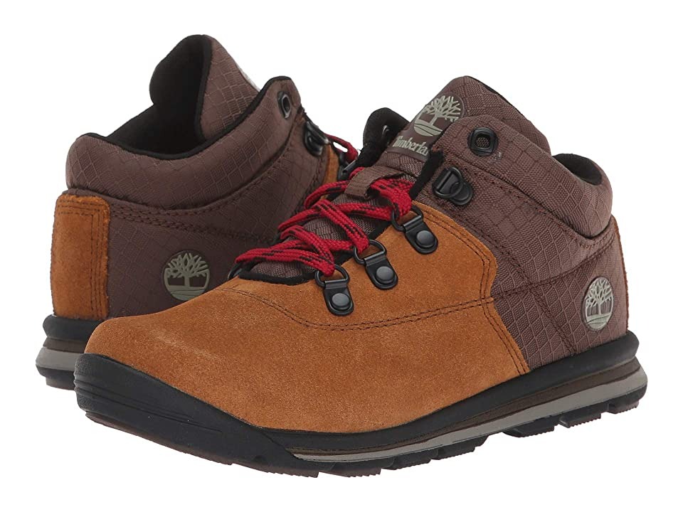 Timberland Kids GT Rally Mid (Little Kid) (Medium Brown Suede/Fabric) Kids Shoes