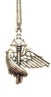 Harry Potter stemma case hogwarts crest collana morte quidditch cosplay
