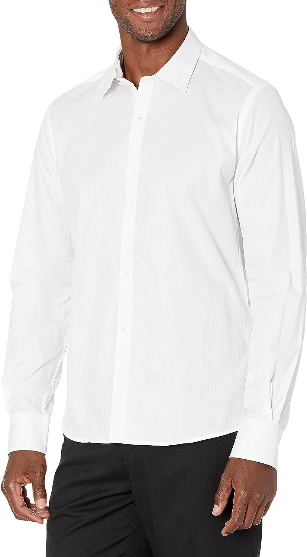 Stone Rose Men's Essential Tonal Stripe Long Sleeve Shirt