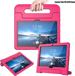 TIRIN Case for Lenovo TAB P10 2019, Light Weight Shock Proof Convertible Handle Stand Protective Kids Firendly Case for Lenovo TAB P10 10.1 Inch 2019 Released Tablet, Rose
