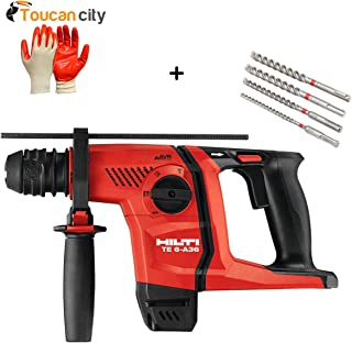 Toucan City Nitrile Dip Gloves (5-Pack) and Hilti 36-Volt Lithium-Ion Cordless SDS Plus Rotary Hammer Drill TE 6-A AVR Tool Body 3554718