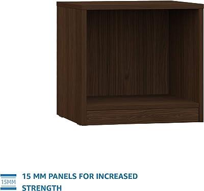Amazon Brand - Solimo Zeus Engineered Wood Bedside Table (Walnut Finish)