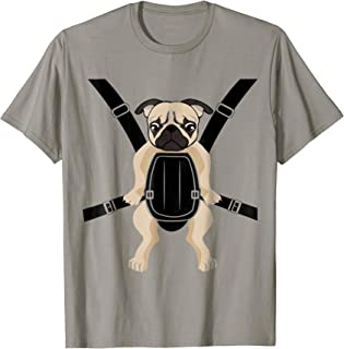 Funny Cute Baby PUG Carrier Strap On T-Shirt