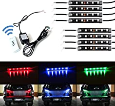 iJDMTOY 8-Piece Universal Fit 48-LED RGB Multi-Color Truck Bed Cargo Area LED Lighting Kit w/Wireless Remote Control