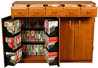 Media Cabinet with Drawers- Cherry
