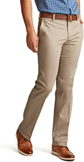 Men's Straight Fit Signature Lux Cotton Stretch Khaki Pant-Creased