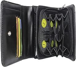 Frédéric Johns - Monedero + Compartimento para Billetes - 8 Compartimentos Separados - Billetera Euro - Bolso Mujer o Hombre Idea de Regalo (Negro)