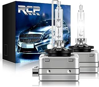 RCP - D1S6 - (A Pair) D1S/D1R 6000K Xenon HID Replacement Bulb Diamond White Metal Stents Base 12V Car Headlight Lamps Hea...