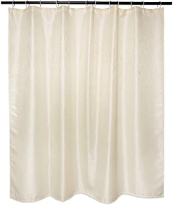 DII CAMZ33264 Poly Shower Curtain, Bamboo, Cream