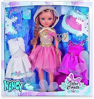 Nancy - Kit de Tres Vestidos de Cuento con muñeca (Famosa