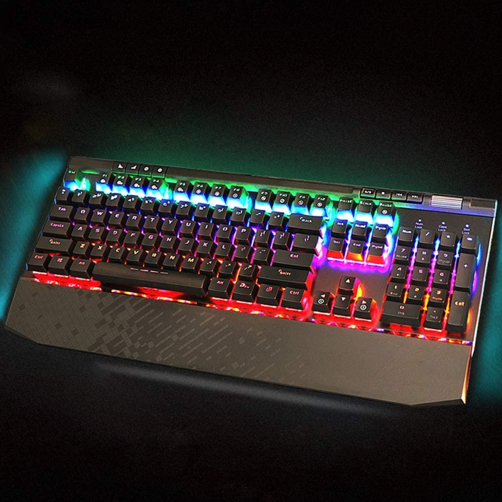 Color : C Mechanical E-Sports Keyboard Desktop Laptop Keyboard Gaming Keyboard DR Illuminated 104 Keys with Light USB Interface Computer Accessories