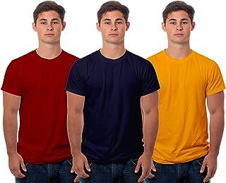 Boodbuck Men's Regular Fit T-Shirt (Pack of 3)