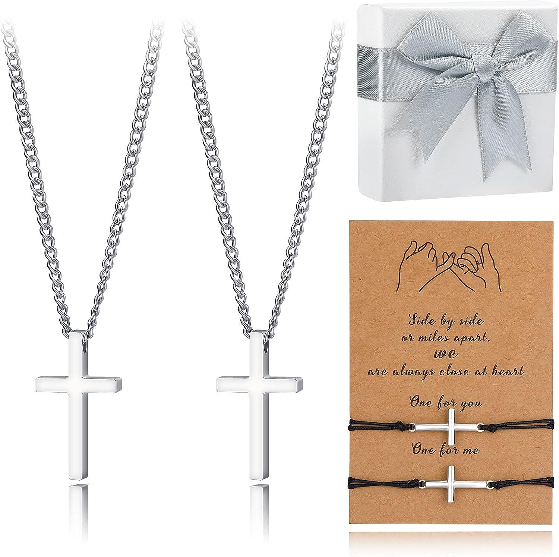 Hazms 4Pcs Las Vegas Mall Cross Wholesale Bracelet Men for Women Necklace