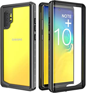 SPIDERCASE Galaxy Note 10+ Plus/Pro/5G Case, Built-in Screen Protector, Clear Full Body Heavy Duty Protection, Shockproof Rugged Cover Designed for Samsung Galaxy Note 10+ Plus/Pro/5G