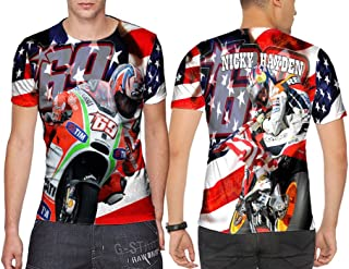 Nicky Hayden Moto GP # 69 Fans Merch Print Sublimation Man Top Size : S to 3XL