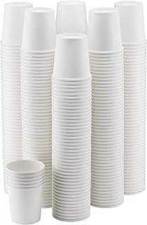 NYHI 300-Pack 6 oz. White Paper Disposable Cups – Hot/Cold Beverage Drinking Cup for Water, Juice, Coffee or Tea – Ideal for Water Coolers, Party, or Coffee On the Go'