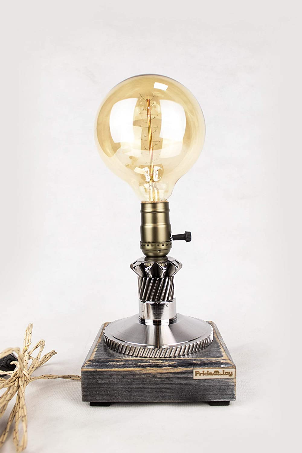 Industrial Table Lamp Max 89% OFF PrideJoy steampunk Rare lamp part Gift car for