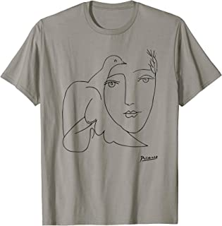 Peace (Dove and Face) T Shirt, Pablo Picasso Sketch Artwork