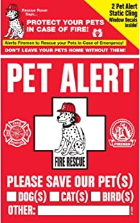 pet emergency rescue window cling