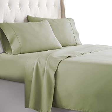 Hotel Luxury Bed Sheets Set 1800 Series Platinum Collection Softest Bedding, Deep Pocket,Wrinkle & Fade Resistant (Queen,Sage)