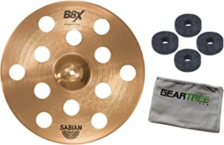 Sabian 41600X 16in B8X O-Zone Series Crash Cymbal Bundle w/Felts and Cloth