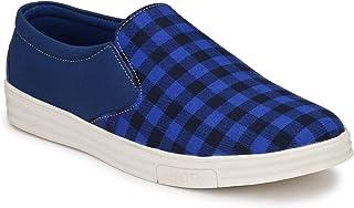 HEEDERIN Men's Navy Blue Mesh Slip on Perfect Decent Look Sneaker 7 UK