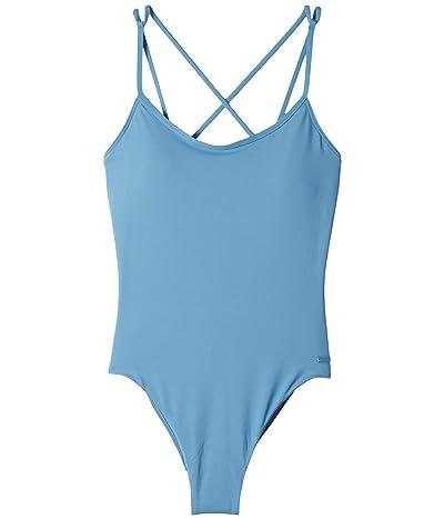 Roxy Solid Beach Classics One-Piece Swimsuit (Blue Heaven) Women