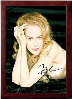 Nicole Kidman Autograph Replica Super Print - Portrait - Framed
