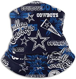 NFL Football Team Dallas Cowboys Dustproof Windproof Headscarf, Multifunctional Sunscreen Face Cover, Outdoor Sports Varie...