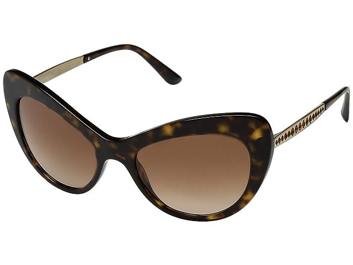 Dolce and Gabbana  0DG4307B (Havana/Grey Gradient) Fashion Sunglasses