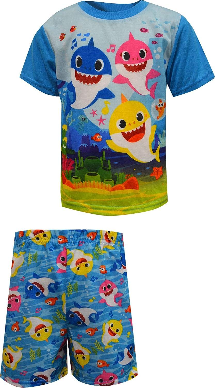 AME Sleepwear Boys' Baby Shark Under The Sea Toddler Pajamas
