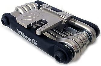 Vibrelli V19 Bike Multitool - 19 Tools - Carry Case - Glueless Puncture Kit - Bicycle Multi Tool