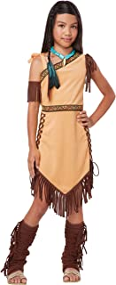 California Costumes Native American Princess Child Costume, Brown, Large