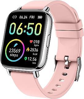 """Smartwatch, 1.69"""" Reloj Inteligente Mujer Impermeable IP68 Pulsera Actividad 24 Modos Deporte con Pulsómetro Monitor de Su..."""