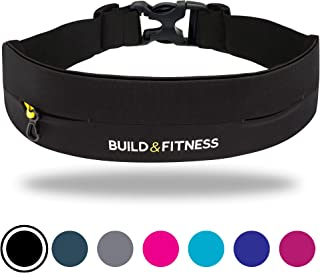 Build & Fitness Running Belt – Adjustable Waist, Slim,...