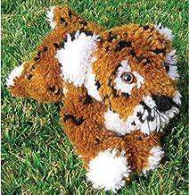 MCG Textiles Huggables Animal Tiger Latch Hook Kit