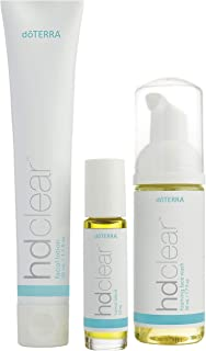 doTERRA - HD Clear Facial Kit - Facial Lotion, Foaming Face Wash, and HD Clear Blend