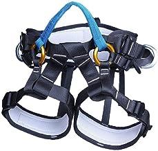 Klimgordel Half Safety Body Seat Belt Rescue Sitting Taille Heup Protection Belt Apparatuur Voor Klimmen Abseilen Blue