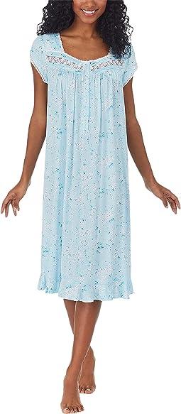 Modal Tencel Knit Cap Sleeve Waltz Gown