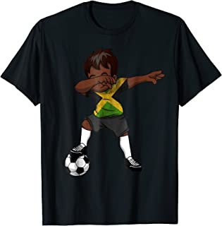 Dabbing Soccer Boy Jamaica Jamaican Kingston Gifts Shirt