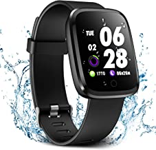 Verpro Smart Watch, Waterproof Fitness Activity Tracker with Heart Rate Monitor, Wearable Oxygen Blood Pressure Wrist Watch, Bluetooth Running GPS Tracker Sport Band, Black