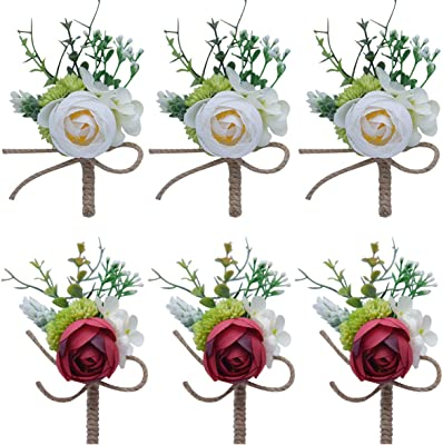 Button hole Baby/'s breath /& Rose Pin Corsage Wedding Pins Boutonniere Wedding boutonniere Wedding accessories silk flower