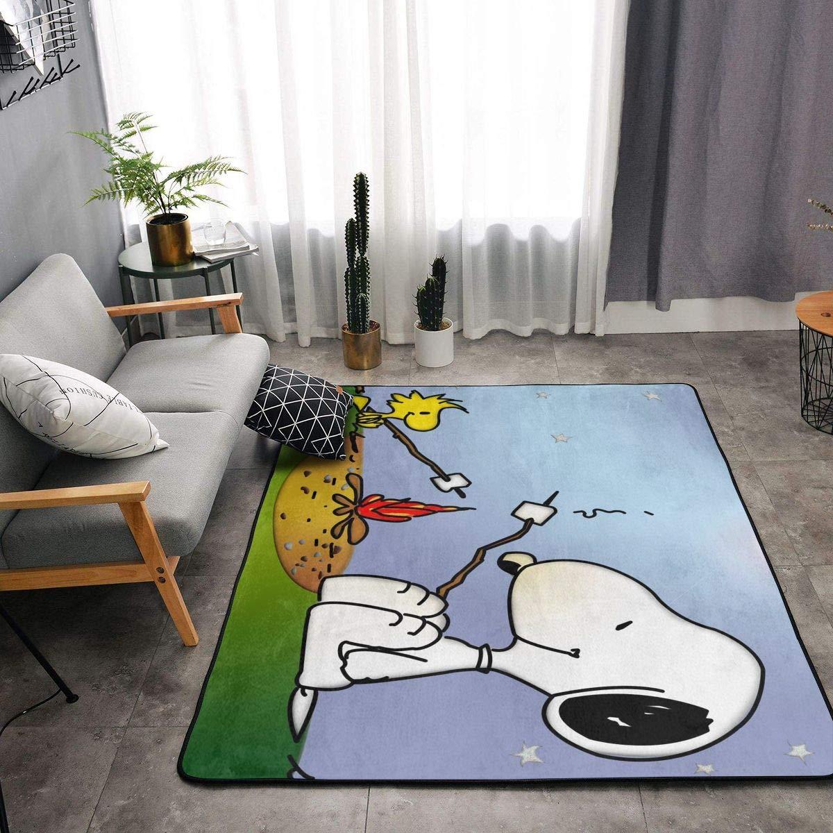 Cute Yellow Snoopy Bedroom Doormat Floor Mat Rug Carpet Home Room Kids Gift