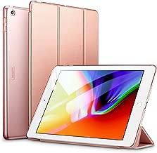 ESR iPad 9.7 2018/2017 ケース 軽量 薄型 レザー 三つ折スタンド オートスリープ機能 スマートカバー 全5色 2017年と2018年発売の9.7インチ iPad 対応(モデル番号A1822、A1823、A1893、A1954)(ローズゴールド) 4894240043271