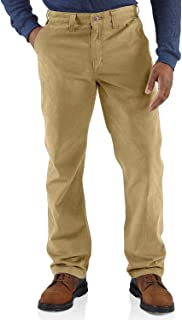 Men's Rugged Relaxed Fit Work Khaki Pant