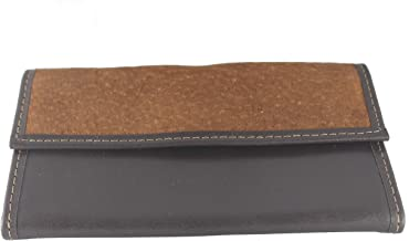 Capybara Carpincho Trifold Womens Thin Wallet Exclusive Argentine Leather Brown